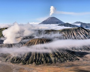 """Mjegulla """"pushton"""" malet në Est Java në Indonezi"""
