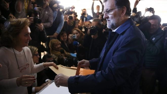 Spanja voton ne gare 4 forca politike
