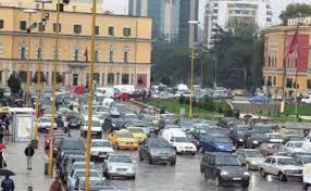 """Trafik në Sheshin """"Skënderbej"""", qendra e bllokuar për shkak të…"""