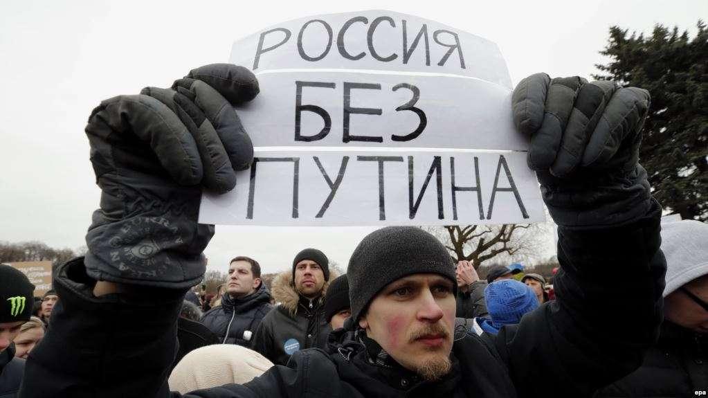 Protestat anti-Putin, dhjetëra të arrestuar