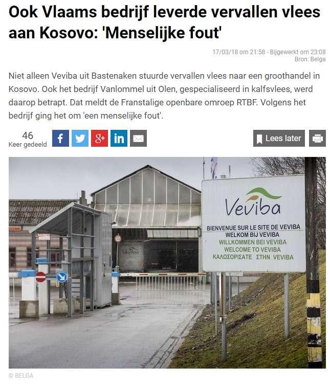 Lajmi në mediat belge