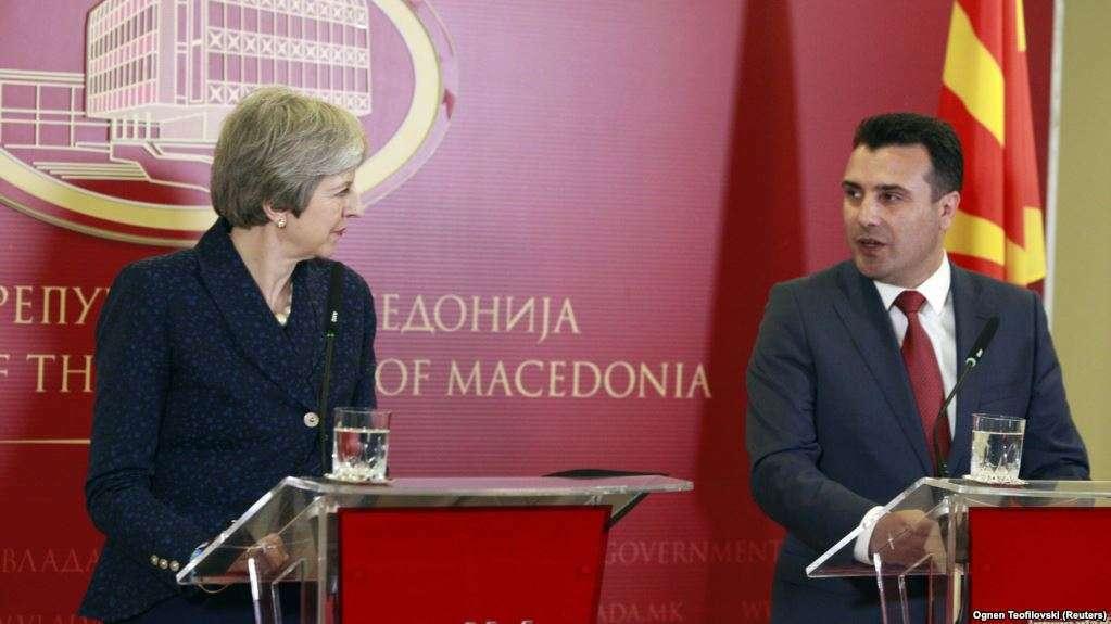 May në Shkup  konfirmon mbështetjen e Britanisë së Madhe