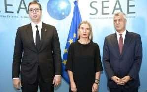 Mogherini: Hiqni tarifën, e thërras menjëherë takimin Thaçi-Vuçiç