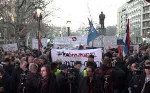 Protestë kundër marrëveshjes